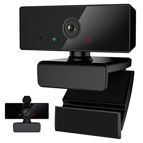 Webcam 1080P Full HD con Micrófono Estéreo,Cámara Web PC Corrección automática de luz USB Plug and Play para Videollamadas,Juegos,Conferencia,Windows/Mac