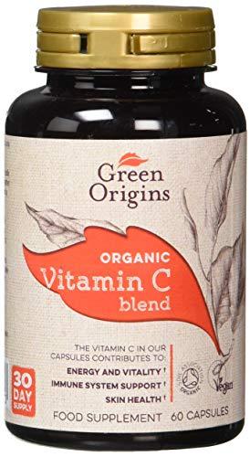 Green Origins Organic Super Berry & Wholefoods Vitamin C Blend Capsules, Pack of 60, with Acerola, Camu Camu, Turmeric, Reishi Mushroom & Amla, Natural Source of Vitamin C