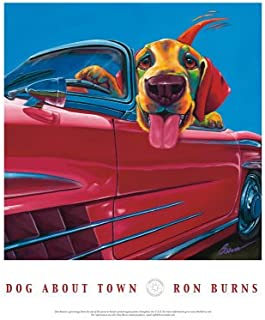 Dog About Town Art Poster Print by Ron Burns, 18x24