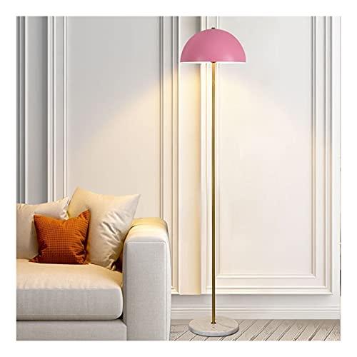 Indoor Vloerlamp voor woonkamer met roze metalen lampenkap LED lamp moderne staande lamp leeslicht voor slaapkamers…