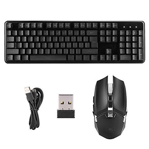 Game Keyboard Oplaadbaar, Oplaadverlichting Draadloos Ultradun Toetsenbord Compatibel met Bluetooth 5.0 Toetsenbord Muis Set voor Windows XP/Win7/Win8/Win10/IOS