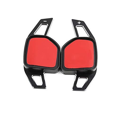 Padillas de cambio Volante del automóvil DSG SHIFT PADDLE ETIQUETAS DE ETIQUETAS PARA EL SEAT ALHAMBRA ATECA LEON 5F FR TARRACO IBIZA (Color : Negro)