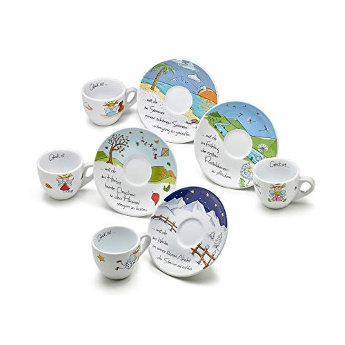 Heaven and Angels Espressotassen Set dickwandig; 4er–Set; Art Collection Design