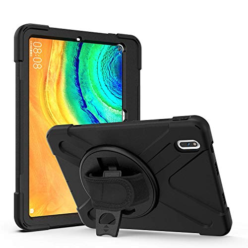 YGoal Case For Lenovo Tab M8, Hand Strap/Shoulder Strap Heavy Duty Full-Body Rugged Protective Drop Proof Case for Lenovo Tab M8 TB-8705F/8705N 8 Inch 2020, Black