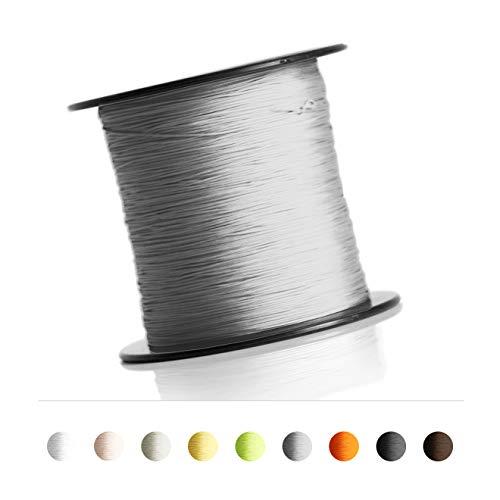 Schnur für Plissee, Rollo, Jalousette 0,8 mm Spannschnur Plisseeschnur zubehör (Grafit, 20 Meter)