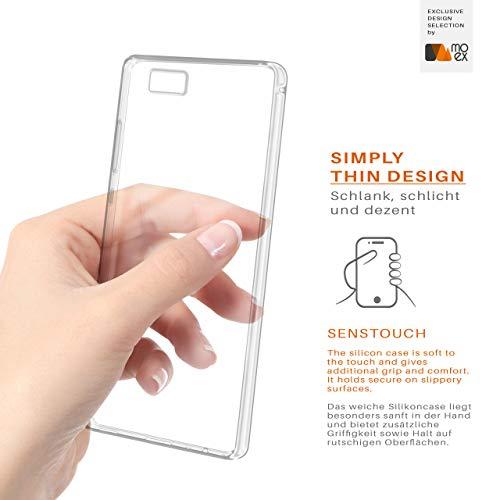 MoEx® Ultra-Clear Case [Vollständig Transparent] passend für Huawei P8 Max | rutschfest und extrem dünn - Fast unsichtbar, Klar - 5