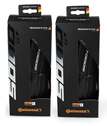 Continental Grand Prix 5000 TL 700 X 25 Black-BW + Black Chili 2-Count