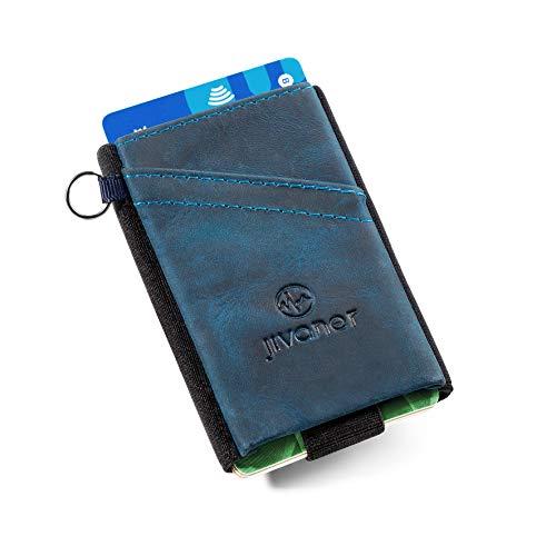 ✅ BLOQUEO RFID - Protección RFID (identificación por radiofrecuencia). La cartera inteligente cuenta con un material bloqueador de las ondas de radiofrecuencia entre 10MHZ y 3GHZ, para evitar que lean sus tarjetas de crédito o cartas de identificació...