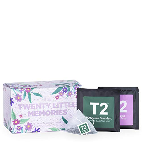 T2 Tea - 20 Little Memories Assorted Tea Sampler Gift Box, 20 Teabags in Individual Sachets
