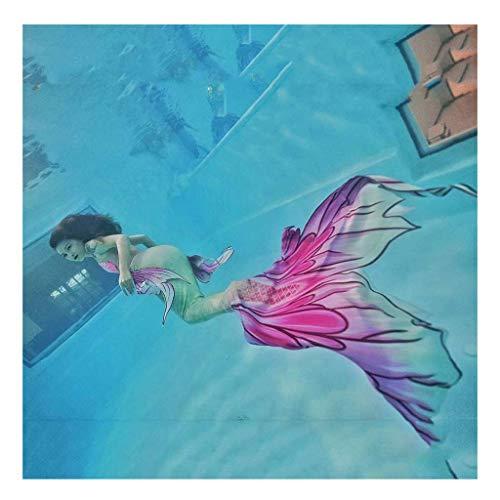 Bikini Mermaid Swimwear Costume da Bagno A Coda di Sirena Sirena Coda Swimmable per Adulti/Bambini/Uomini/Donne/Piscina/Festa/Esterno/Foto(Color:Multicolor 3)