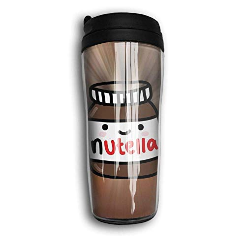 Qurbet Kaffeebecher Thermobecher mit Schraubdeckel, Ruby Fondos Tumblr Nutella Curved Coffee Cup Travel Mug 12 Oz