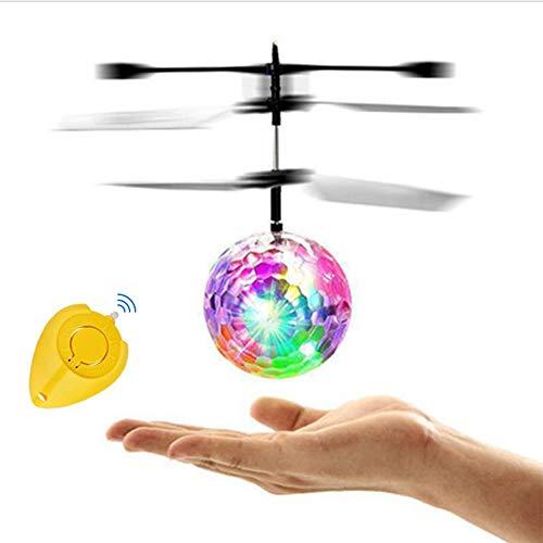 Amasawa Pelota Voladora Flying Ball Juguetes,Juguete de Bola Voladora LED Intermitente,con Mando a Distancia,luz LED de Colores Brillantes y Control de Sensor,para Niñas, Adultos