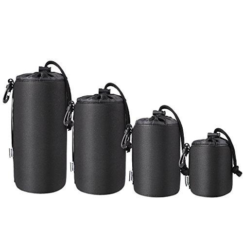 MVPower Multi-Pack Objektivgehäuse Objektivgehäuse, 5 mm Dicke, 4 Größen, wasserdichtes und stoßfestes Schutzgehäuse, kompatibel mit Sony Canon Nikon Panasonic Pentax Olympus Tamron-Objektiven