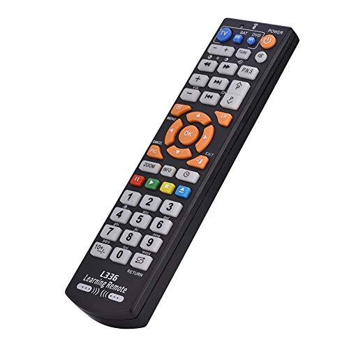 Tosuny All-in-One Lernfernbedienung Universal Intelligente Fernbedienung mit Lernfunktion für TV CBL DVD SAT DVD und Anderen Infrarotgeräten kabellose Tastatur (Schwarz)