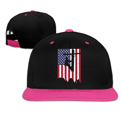Electric Power Lineman American Flag Unisex Hip Hop Flat Brim Snapback Hats Women Men Plain Baseball Caps