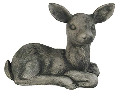 Sitting Deer Statue Sculpture Concrete Deer Statue Home and Garden Figure Forest Deer Statuary