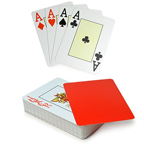 Ganzoo Professional Poker Cards 54 Cards for Black Jack Cards Made of Robust Plastic Blue