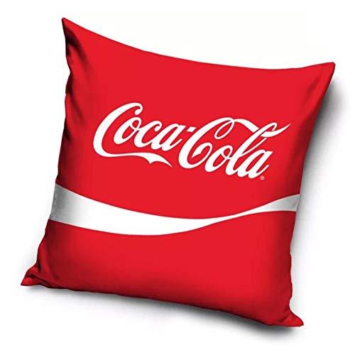 Le fantasie di casa Federa Copri Cuscino Coca Cola Rossa 40 x 40 in Poliestere con Stampa Originale Coca Cola.