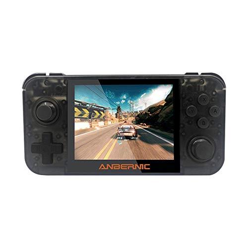 Consola de juegos retro portátil de mano Consola de videojuegos IPS RG350, consola de juegos clásica con pantalla de 3.5 pulgadas, soporte de expansión 128G, regalos perfectos para niños y adultos