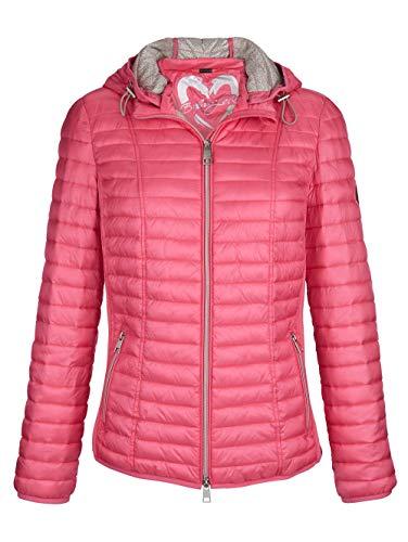 BARBARA LEBEK Damen Jacke mit Stehkragen in Pink mit elastischem Einsatz