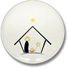 CafePress Baby In Manger Mini Button 1