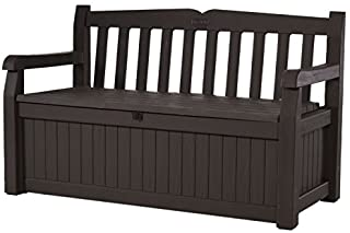 Keter Eden 70 Gallon Storage Bench Deck Box for Patio Furniture, Front Porch Decor and Outdoor Seating – Perfect to Store ...