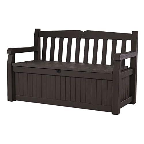Keter 213126 Eden 70 Gallon All Weather Outdoor Patio Storage Garden Bench  Deck Box, Brown - Porch Furniture: Amazon.com