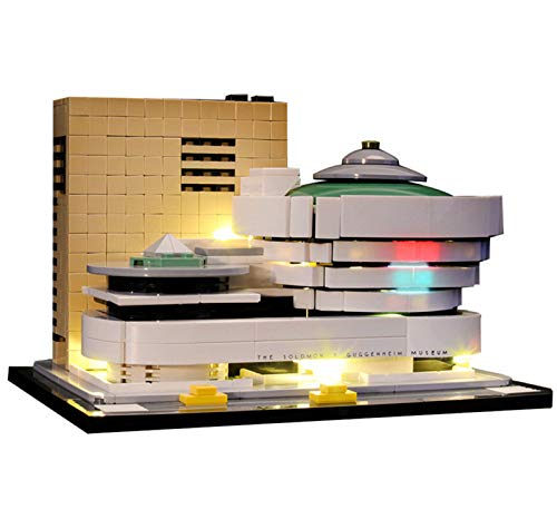 QZPM Kit De Iluminación Led para (Architecture Museo Solomon R. Guggenheim) Compatible con Ladrillos De Construcción Lego Modelo 21035, Juego De Legos No Incluido