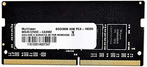 Multilaser MM424 Dimm 4Gb Pc4-19200, Preto