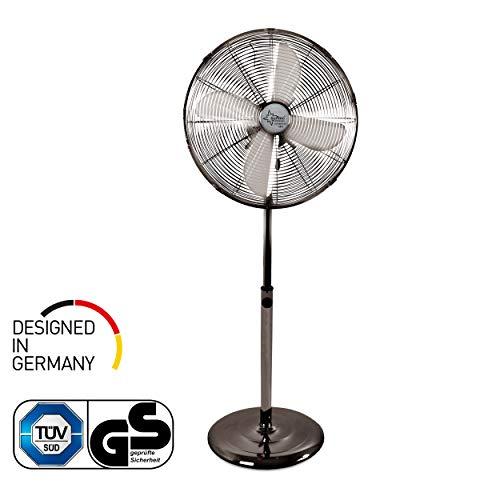 SUNTEC-ventilator, stil, met timer | statiefventilator CoolBreeze 4000 | diameter 40 cm | staande ventilator, windmachine, metaal en chroom | voor bed, slaapkamer, kantoor, woning, balkon of terras