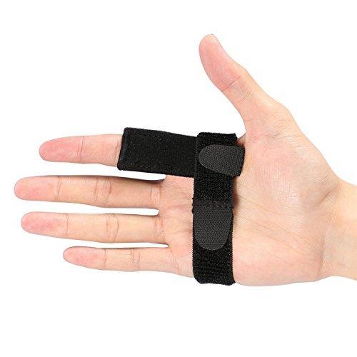 Doact Fingerschiene Finger Schiene Splints für Trigger Finger,Mallet Finger, Finger Frakturen, Beste Finger-Stützklammer für Sehnenfreigabe und Schmerzlinderung (Schwarz/Einheitsgröße)