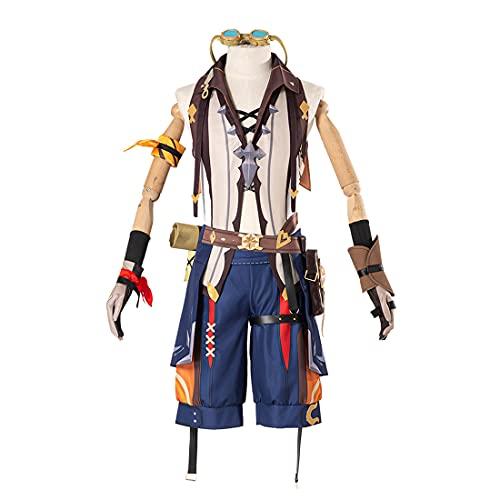 YOU339 Genshin Impact Cosplay Kostüm Bennett Halloween Cosplay Outfits Halloween Karneval Party Phantasie Rollenspiel Kleidung Outfit Zubehör Set