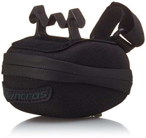 Syncros–Bolsa para sillín de Bicicleta, Tortuga 380, Negro/Gris, 11x 6x 3,5cm, 0,38l, 233729