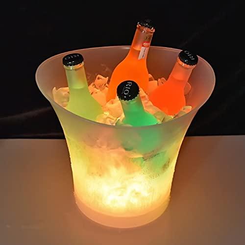 GHMPNLG Cubeta de Hielo,DIRIGIÓ Cubo de Hielo, Cambio de Cerveza Cambio de Color, Cubo de Cubierta de Hielo Vino Grande, Recipientes de Bebidas Bucket de Hielo