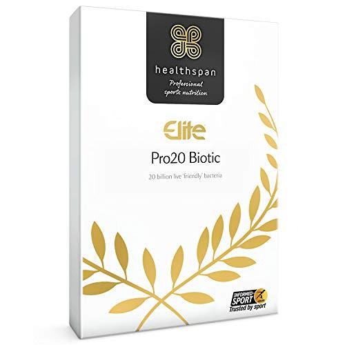 Pro20 Biotic   Healthspan Elite   120 Capsules   All Blacks Official Partner   Live Friendly Bacteria   Informed-Sport Accredited   Vegan