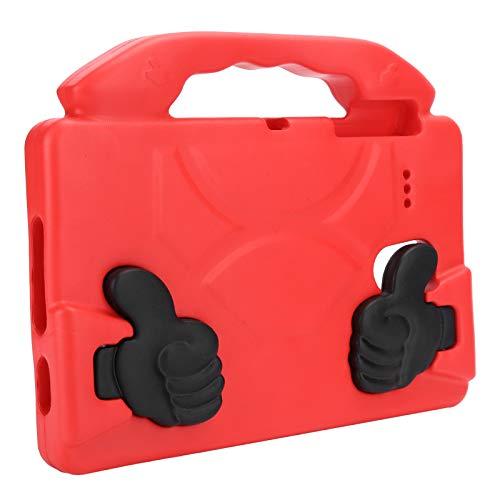 Tableta Estuche a Prueba de Golpes Tableta Cubierta Resistente Estuche Protector Plano EVA Equipo de protección para computadora(Scarlet)