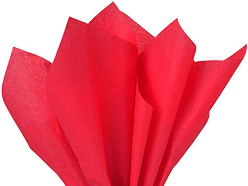 red Tissue Paper 15 x 20 100pk - Preimum Quality Paper Made in USA A1 Bakery suppliess HIGH Quality Paper