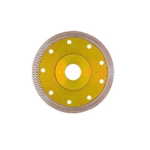 Hoja de sierra de diamante de 125 mm para azulejos de porcelana de mármol de cerámica de corte de granito para amoladora de piedra herramienta de hoja de sierra (color: amarillo)