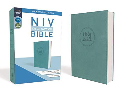 NIV, Value Thinline Bible, Imitation Leather, Blue