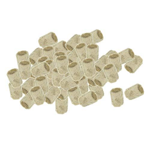 perfk Rockwool Groeien Blokjes Starter Lakens, 50pcs Rock Wol Cubes voor Klonen, Plant Voortplanting, kas Base Starter Blokjes voor Krachtige Plant Groei