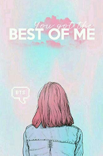KPOP GIRL You Got The Best of Me BTS Notebook for ARMYs and Knetz: Rainbow Ombre with Lady in Denim 6x9 College Ruled Blank Lined School or Personal Journal for Kdrama Fans