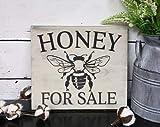 Not Branded Miel para la venta Signo de la cocina/signo de la abeja/señal de la miel local/al aire libre de la miel/miel para la venta signo