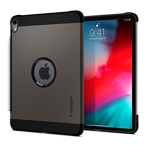 Spigen Tough Armor Designed for iPad Pro 11 Inch Case (2018) - Gunmetal