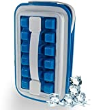 Ice Cube Trays 2 in 1 Portable ice cube maker makes 18 ice cubes Cube Ice Silicone Making Tray Icebreaker Pop Space Saving Silicone Ice Maker