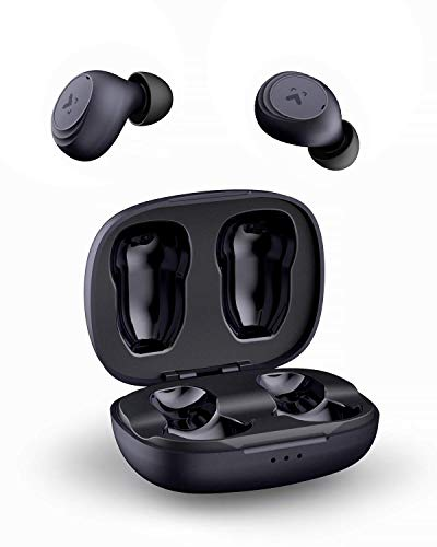 AUKEY True Wireless Earbuds, Bluetooth 5.0 Headphones, Immersive Bass Sound Bluetooth Earphones in Ear, 30H Playtime, Touch Control w/Integrated Mic as Headset for iPhone & Android, Samsung & Huawei