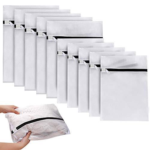Eyscoco Wäschesack Wäschenetze,10 Stück wäschenetz für waschmaschine, Wiederverwendbare Wäschebeutel Reise, Mit Mesh-Wäschebeutel Mit Reißverschluss Für Kleidung,Blusen,BHS,Unterwäsche Usw