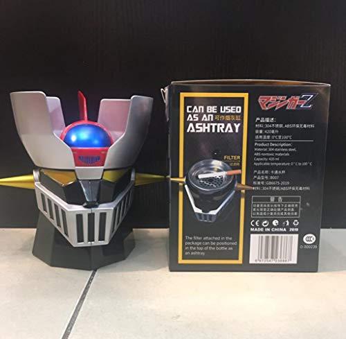 JXNC Ready Player One Creative Mazinger Z Transformation Robot 420ml PC + Taza de Tazas de Acero Inoxidable Taza de Agua de Oficina, 420ml