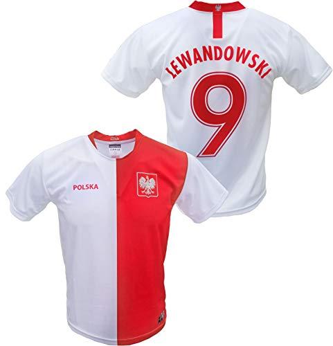 Mens Polska Robert Lewandowski #9 Replica Euro 2020 Soccer Jersey Made in Poland S White