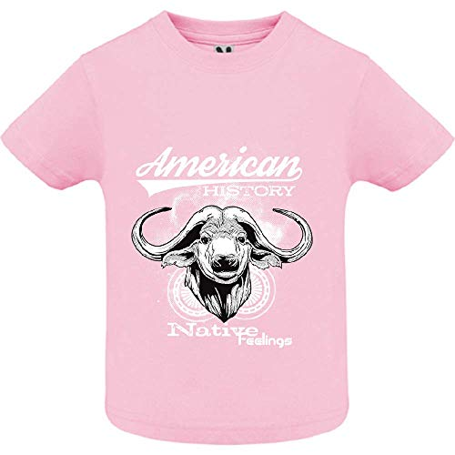 LookMyKase T-Shirt - American History - Bébé Fille - Rose - 6mois