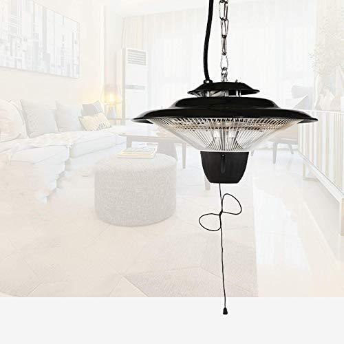 SSeir 2.5KW Garden Electric Halogen Patio Heater, Hanging Heat Lamp Outdoor Ceiling Mounted Heat Warmer - Infrared Halogen Fire Tube Heater